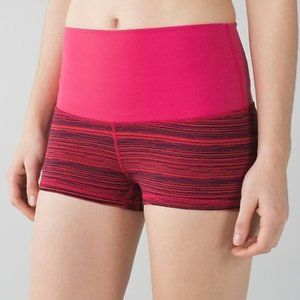 Lululemon Pink Boogie High Rise (Roll Down) Shorts